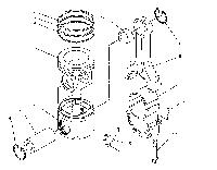 176-5749 Кольцо поршневое среднее CAT C-15 225-7010