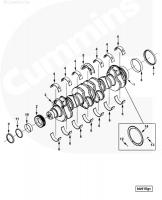 Коленвал двигателя Cummins ISLe  L 8.9 3976841 / 3976841 / 3965010 / 3965012 / 3965011