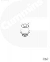 Термостат двигатеря Cummins Камминс 3968559 5274887