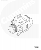 Генератор двигателя Cummins Камминс ISLe 4942002 4939018